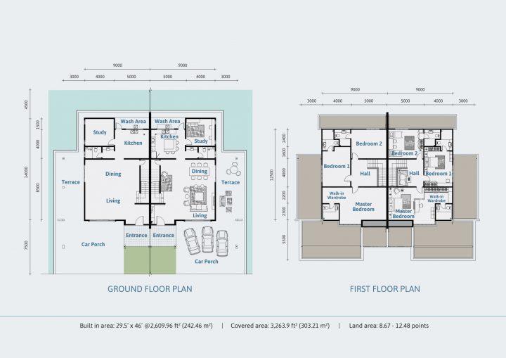 Semi Detached Floor Plan